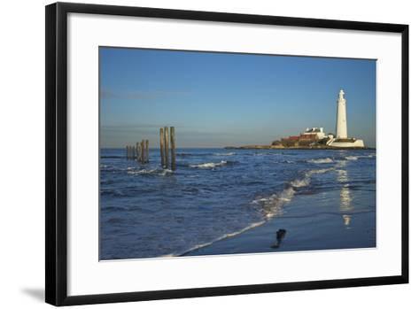 St. Marys Lighthouse, Whitley Bay, North Tyneside, Tyne and Wear, England, United Kingdom, Europe-Peter Barritt-Framed Art Print