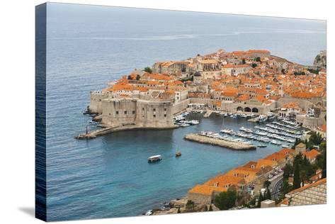 Elevated View of Dubrovnik Old Town-Matthew Williams-Ellis-Stretched Canvas Print