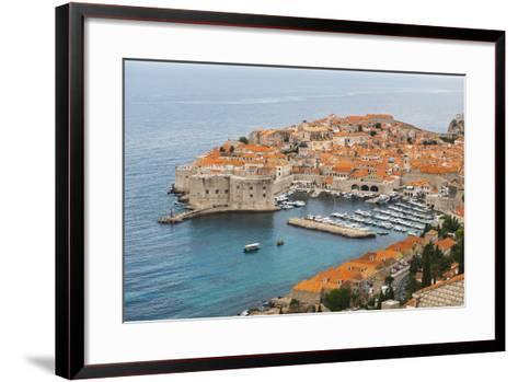 Elevated View of Dubrovnik Old Town-Matthew Williams-Ellis-Framed Art Print