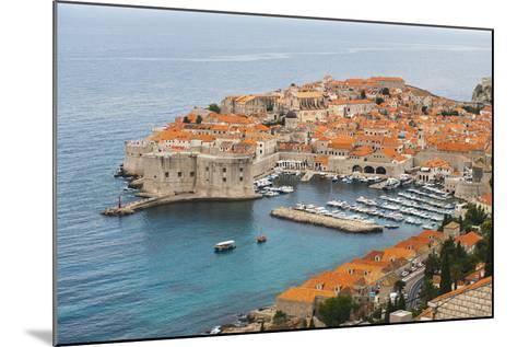 Elevated View of Dubrovnik Old Town-Matthew Williams-Ellis-Mounted Photographic Print