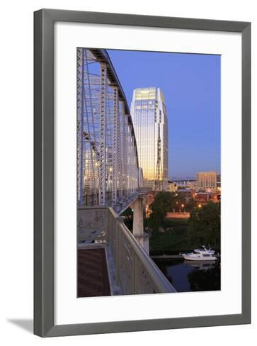 Pinnacle Tower and Shelby Pedestrian Bridge-Richard Cummins-Framed Art Print