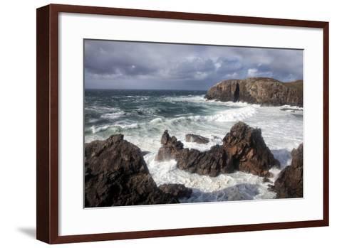 Heavy Seas Pounding the Rocky Coastline at Dalbeg-Lee Frost-Framed Art Print