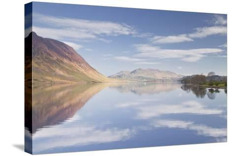 The Still Waters of Crummock Water in the Lake District National Park-Julian Elliott-Stretched Canvas Print