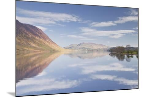 The Still Waters of Crummock Water in the Lake District National Park-Julian Elliott-Mounted Photographic Print