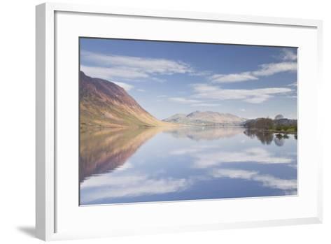 The Still Waters of Crummock Water in the Lake District National Park-Julian Elliott-Framed Art Print