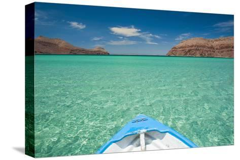 Little Boat in the Turquoise Waters at Isla Espiritu Santo, Baja California, Mexico, North America-Michael Runkel-Stretched Canvas Print
