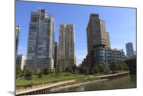 Expensive Apartment Buildings on the Chicago River-Amanda Hall-Mounted Photographic Print