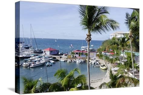 The Leverick Bay Resort and Marina-Jean-Pierre DeMann-Stretched Canvas Print