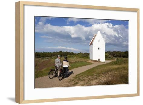 Den Tilsandede Kirke (Buried Church) Buried by Sand Drifts-Stuart Black-Framed Art Print