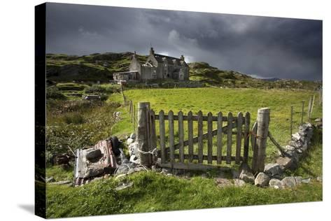 Abandoned Croft Beneath a Stormy Sky-Lee Frost-Stretched Canvas Print
