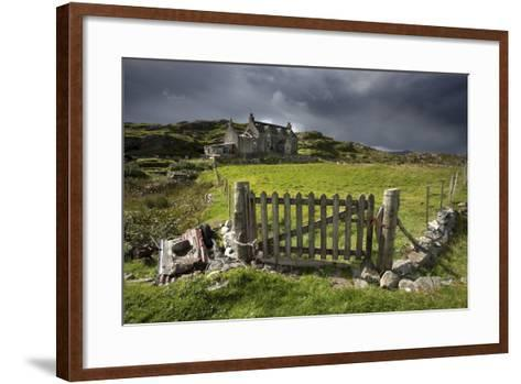 Abandoned Croft Beneath a Stormy Sky-Lee Frost-Framed Art Print