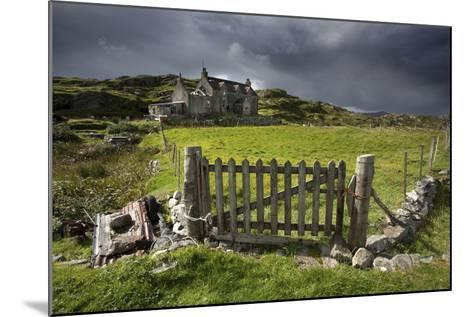Abandoned Croft Beneath a Stormy Sky-Lee Frost-Mounted Photographic Print