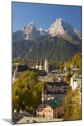 View of Berchtesgaden in Autumn with the Watzmann Mountain in the Background-Miles Ertman-Mounted Photographic Print