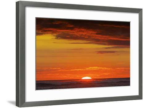 Sunset and Sunlit Clouds over Playa Guiones Surf Beach-Rob Francis-Framed Art Print
