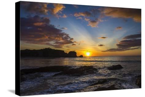 Sunset by the Southern Headland of Beautiful Playa Pelada Beach-Rob Francis-Stretched Canvas Print