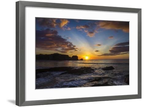 Sunset by the Southern Headland of Beautiful Playa Pelada Beach-Rob Francis-Framed Art Print