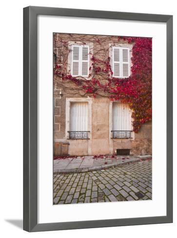 Autumn Leaves in Noyers-Sur-Serein-Julian Elliott-Framed Art Print