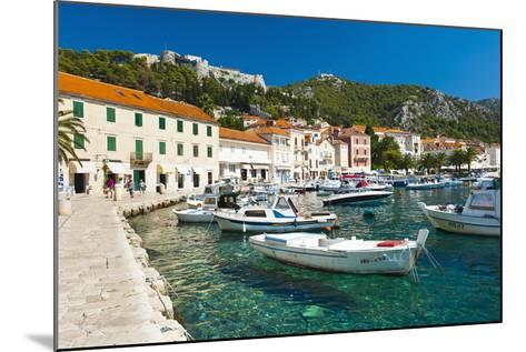 Hvar Harbour and Fortica (Spanish Fortress)-Matthew Williams-Ellis-Mounted Photographic Print