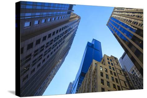 Skyscrapers Including Willis Tower-Amanda Hall-Stretched Canvas Print