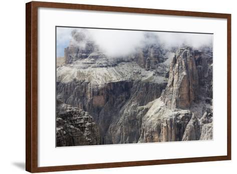 Cloud on the Dramatic Sass Pordoi Mountain in the Dolomites Near Canazei-Martin Child-Framed Art Print