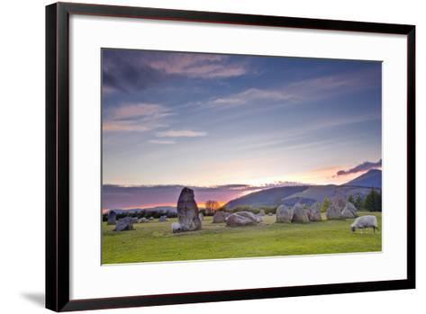 Castlerigg Stone Circle at Sunset-Julian Elliott-Framed Art Print