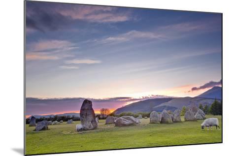 Castlerigg Stone Circle at Sunset-Julian Elliott-Mounted Photographic Print