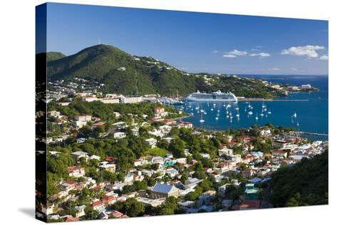 Elevated View over Charlotte Amalie-Gavin Hellier-Stretched Canvas Print