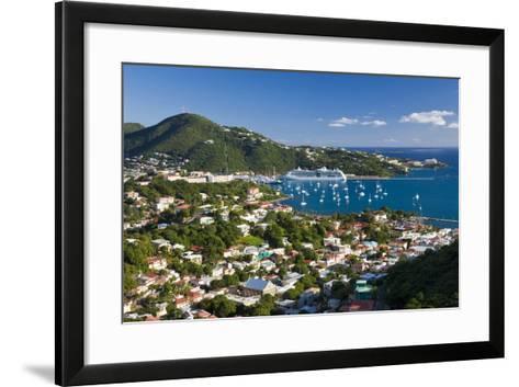 Elevated View over Charlotte Amalie-Gavin Hellier-Framed Art Print