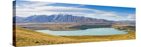 Lake Tekapo and Snow Capped Mountains-Matthew Williams-Ellis-Stretched Canvas Print