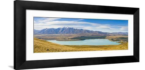 Lake Tekapo and Snow Capped Mountains-Matthew Williams-Ellis-Framed Art Print