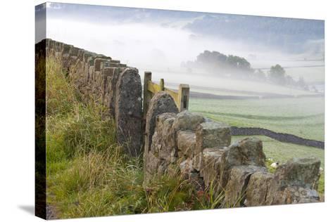 Stone Fence, Burnsall, Yorkshire Dales National Park, Yorkshire, England, United Kingdom, Europe-Miles Ertman-Stretched Canvas Print