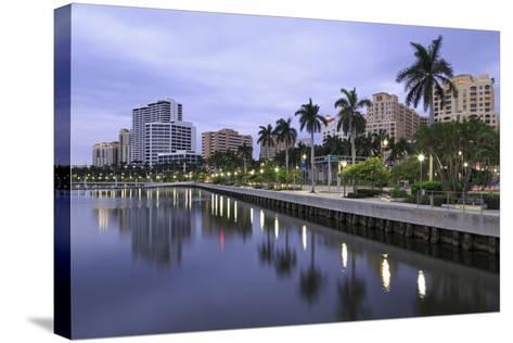 Skyline of West Palm Beach, Florida, United States of America, North America-Richard Cummins-Stretched Canvas Print