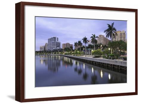 Skyline of West Palm Beach, Florida, United States of America, North America-Richard Cummins-Framed Art Print