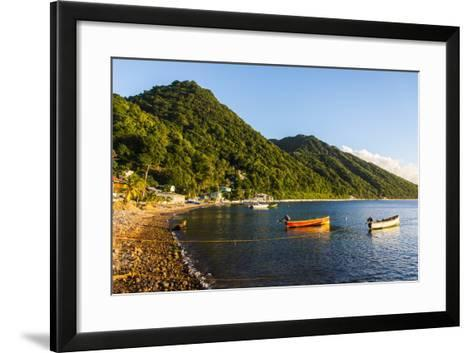 Fishing Boats in the Bay of Soufriere, Dominica, West Indies, Caribbean, Central America-Michael Runkel-Framed Art Print