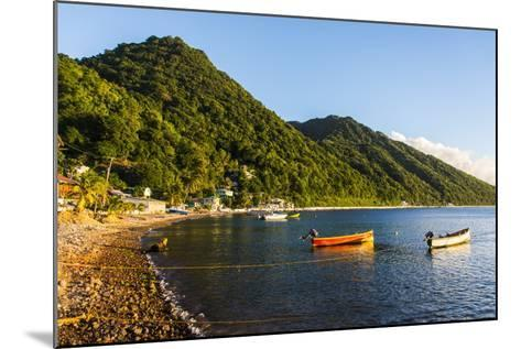 Fishing Boats in the Bay of Soufriere, Dominica, West Indies, Caribbean, Central America-Michael Runkel-Mounted Photographic Print