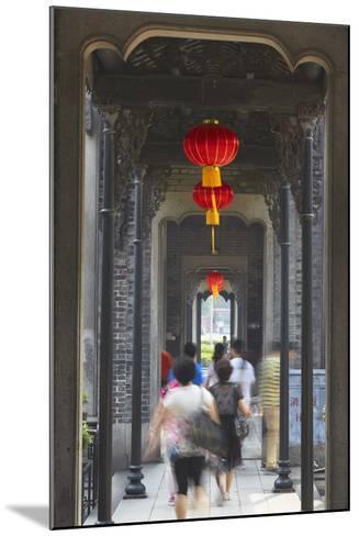 People Walking Along Corridor at Chen Clan Academy, Guangzhou, Guangdong, China, Asia-Ian Trower-Mounted Photographic Print