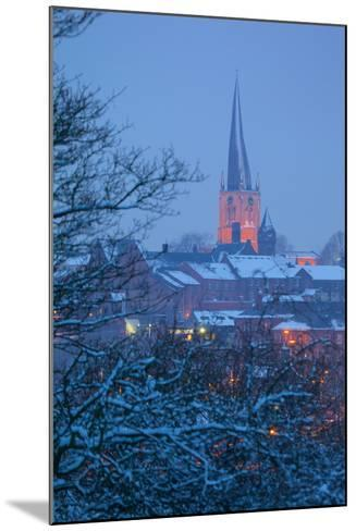 View of Town and Crooked Spire Church, Chesterfield, Derbyshire, England, United Kingdom, Europe-Frank Fell-Mounted Photographic Print