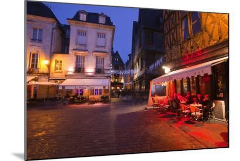 Place Plumereau in Vieux Tours on a Late December Evening, Tours, Indre-Et-Loire, France, Europe-Julian Elliott-Mounted Photographic Print