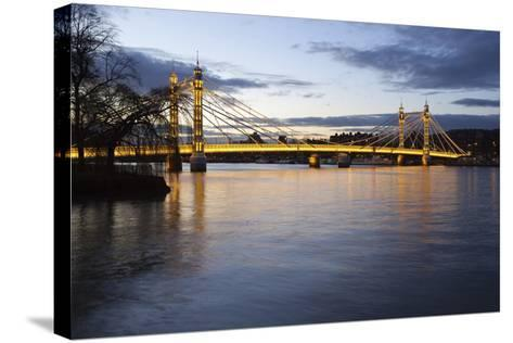 Albert Bridge over the River Thames, Chelsea, London, England, United Kingdom, Europe-Stuart Black-Stretched Canvas Print