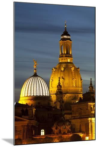 View of the Dome of the Frauenkirche at Night, Dresden, Saxony, Germany, Europe-Miles Ertman-Mounted Photographic Print