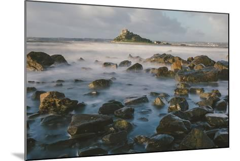 Rocky Shoreline and St. Michaels Mount, Early Morning, Cornwall, England, United Kingdom, Europe-Mark Doherty-Mounted Photographic Print