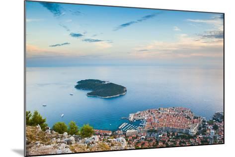 View over Dubrovnik, Lokum Island and Adriatic Sea, Dubrovnik, Dalmatian Coast, Croatia, Europe-Matthew Williams-Ellis-Mounted Photographic Print