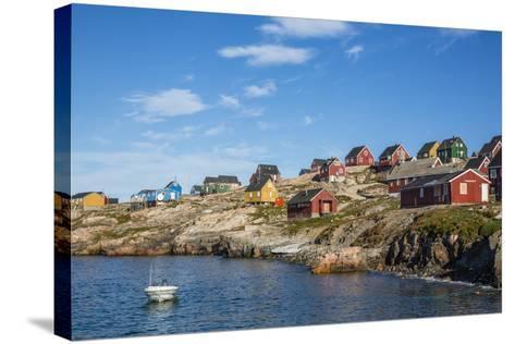 Inuit Village, Ittoqqortoormiit, Scoresbysund, Northeast Greenland, Polar Regions-Michael Nolan-Stretched Canvas Print