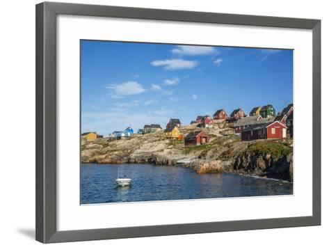 Inuit Village, Ittoqqortoormiit, Scoresbysund, Northeast Greenland, Polar Regions-Michael Nolan-Framed Art Print