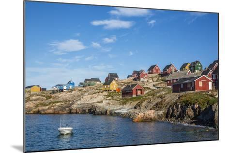 Inuit Village, Ittoqqortoormiit, Scoresbysund, Northeast Greenland, Polar Regions-Michael Nolan-Mounted Photographic Print