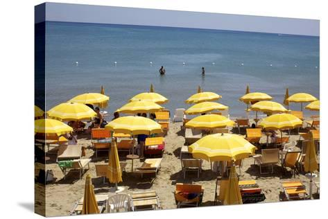 A Classical Lido on the Ionian Sea, on the Basilcata South Coast, Italy, Europe-Olivier Goujon-Stretched Canvas Print