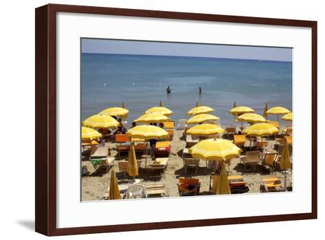 A Classical Lido on the Ionian Sea, on the Basilcata South Coast, Italy, Europe-Olivier Goujon-Framed Art Print