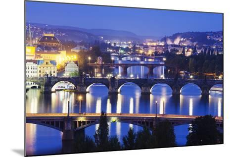 Bridges on the Vltava River, UNESCO World Heritage Site, Prague, Czech Republic, Europe-Christian Kober-Mounted Photographic Print