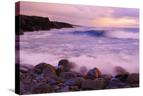 The Burren Coastline Near Doolin, County Clare, Munster, Republic of Ireland, Europe-Richard Cummins-Stretched Canvas Print