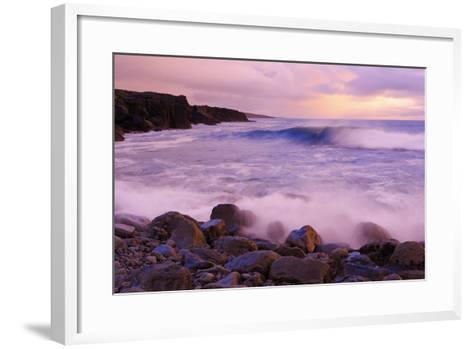 The Burren Coastline Near Doolin, County Clare, Munster, Republic of Ireland, Europe-Richard Cummins-Framed Art Print